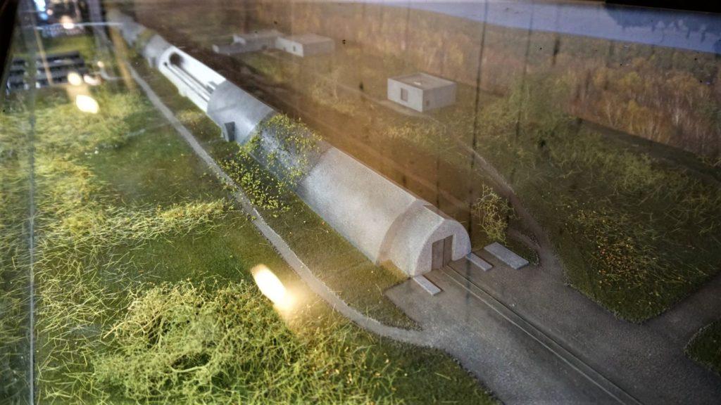 schron kolejowy wkonewce makieta