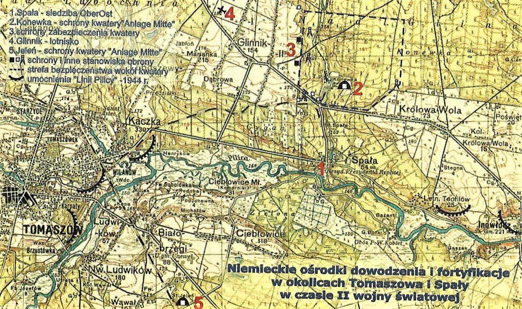 niemieckie osrodki dowodzenia wpoblizu spaly itomaszowa mazowieckiego