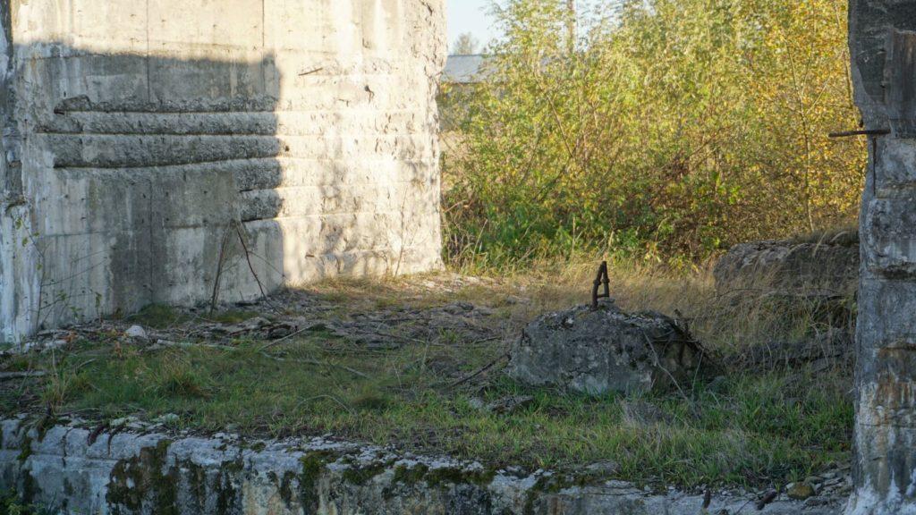 Pozostałości budynków pocementowni wWierzbicy