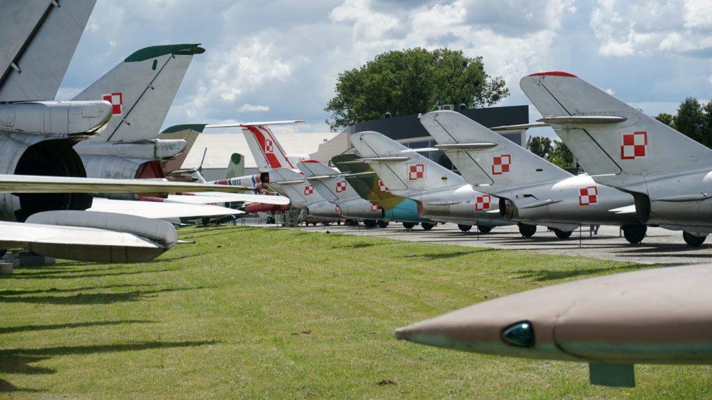 Ogony samolotów zMuzeum Sił Powietrznych wDęblinie